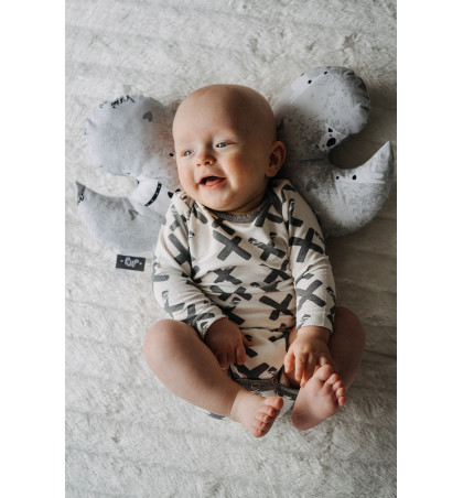 Bamboo Baby Bodysuit (Crosses)