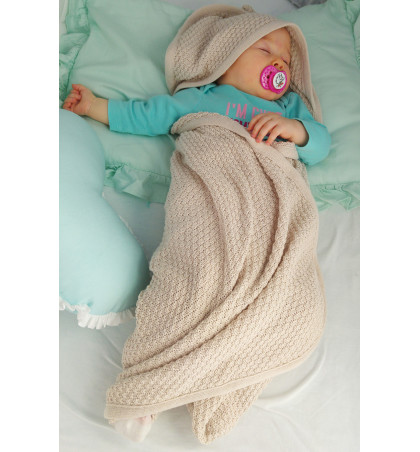 Cotton Knitted Hooded Baby...