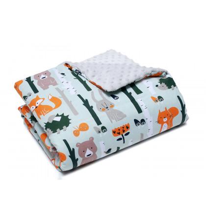 Minky Fleece Blanket (Forest)