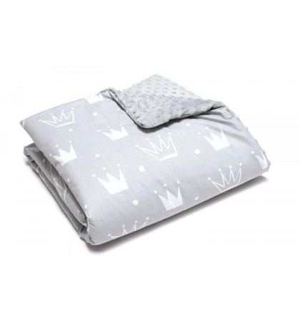 Minky Fleece Blanket (Crowns)