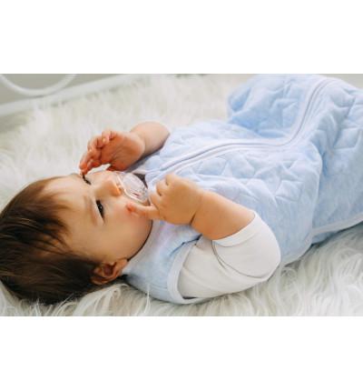 Śpiworek Ocieplany Bawełniany Pikowany do Spania dla Dzieci i Niemowląt (Błękitny Melanż)