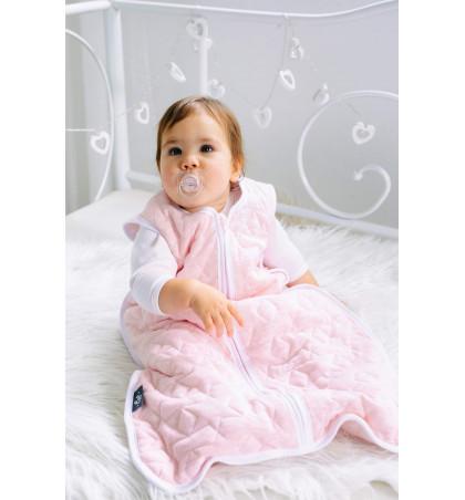 Śpiworek Ocieplany Bawełniany Pikowany do Spania dla Dzieci i Niemowląt (Różowy Melanż)