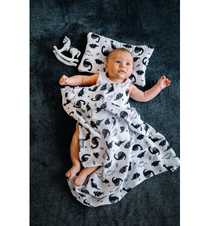 Muslin Swaddle Blanket (Dinos)