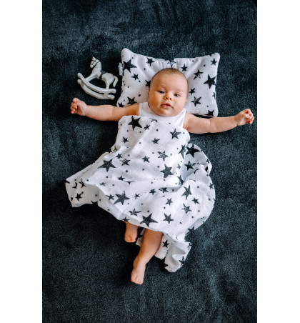 Muslin Swaddle Blanket (Stars)