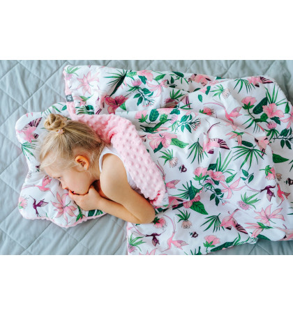 Minky Fleece Blanket (Flowers)