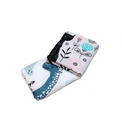 Bamboo Burp Cloths 2-pack