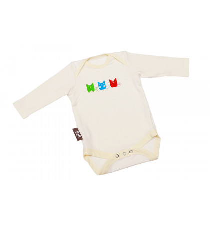 Bamboo Baby Bodysuit (Cats)