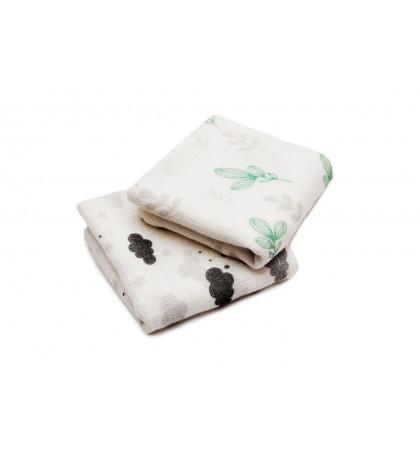 Bamboo Burp Cloths 2-pack