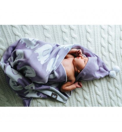 Bamboo Knitted Hooded Baby...